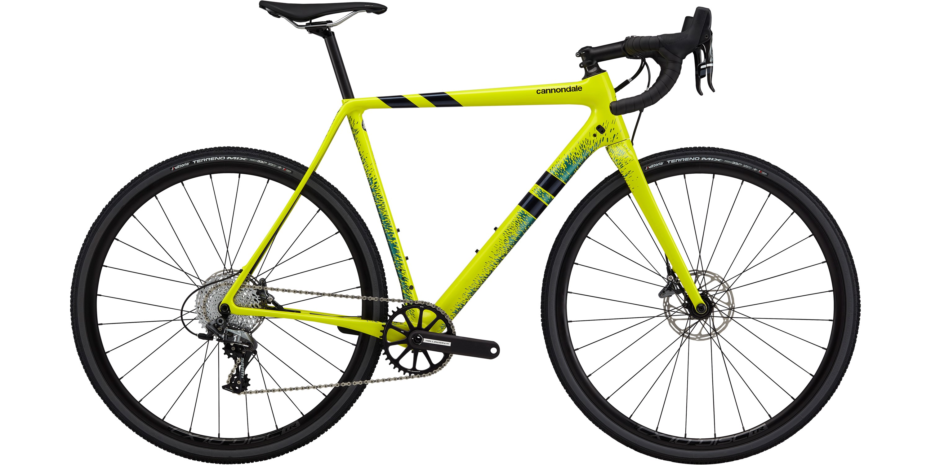 2020 Cannondale SuperX Force 1 Carbon Cyclocross Bike in Yellow | Cross-cykler