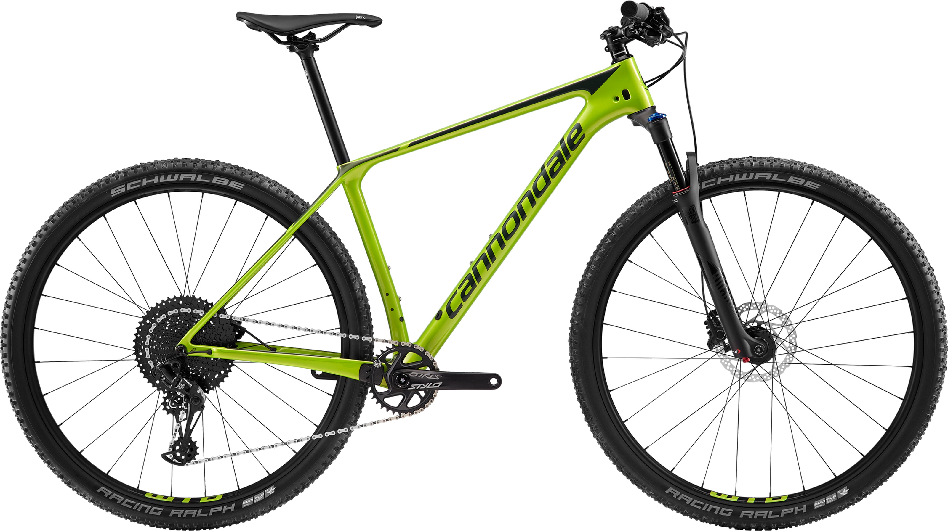 2019 Cannondale F-Si 5 Mens Carbon Hardtail Mountain Bike in Green | Mountainbikes