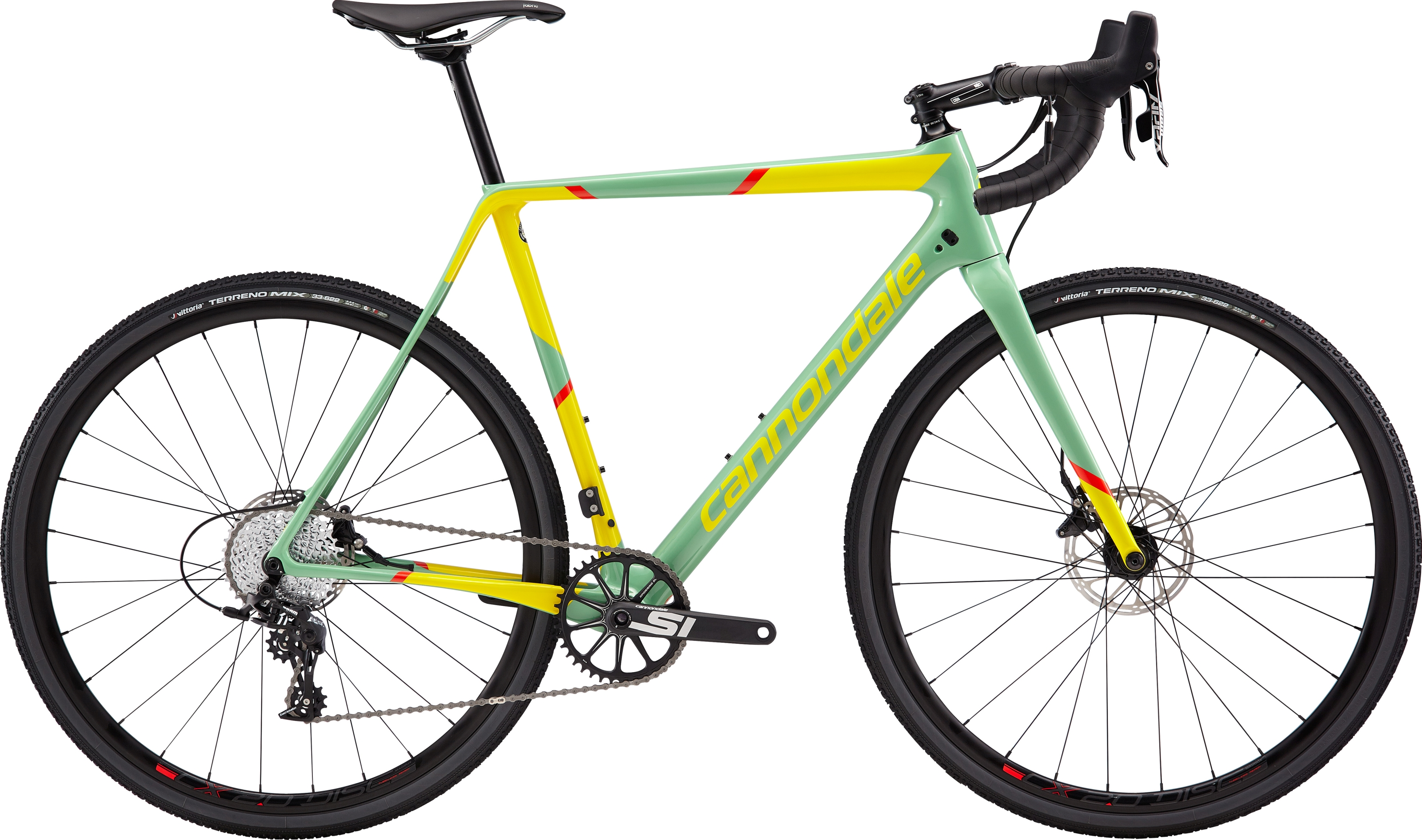 2019 Cannondale SuperX Apex 1 Carbon Mens Cyclocross bike in Green | Cross-cykler