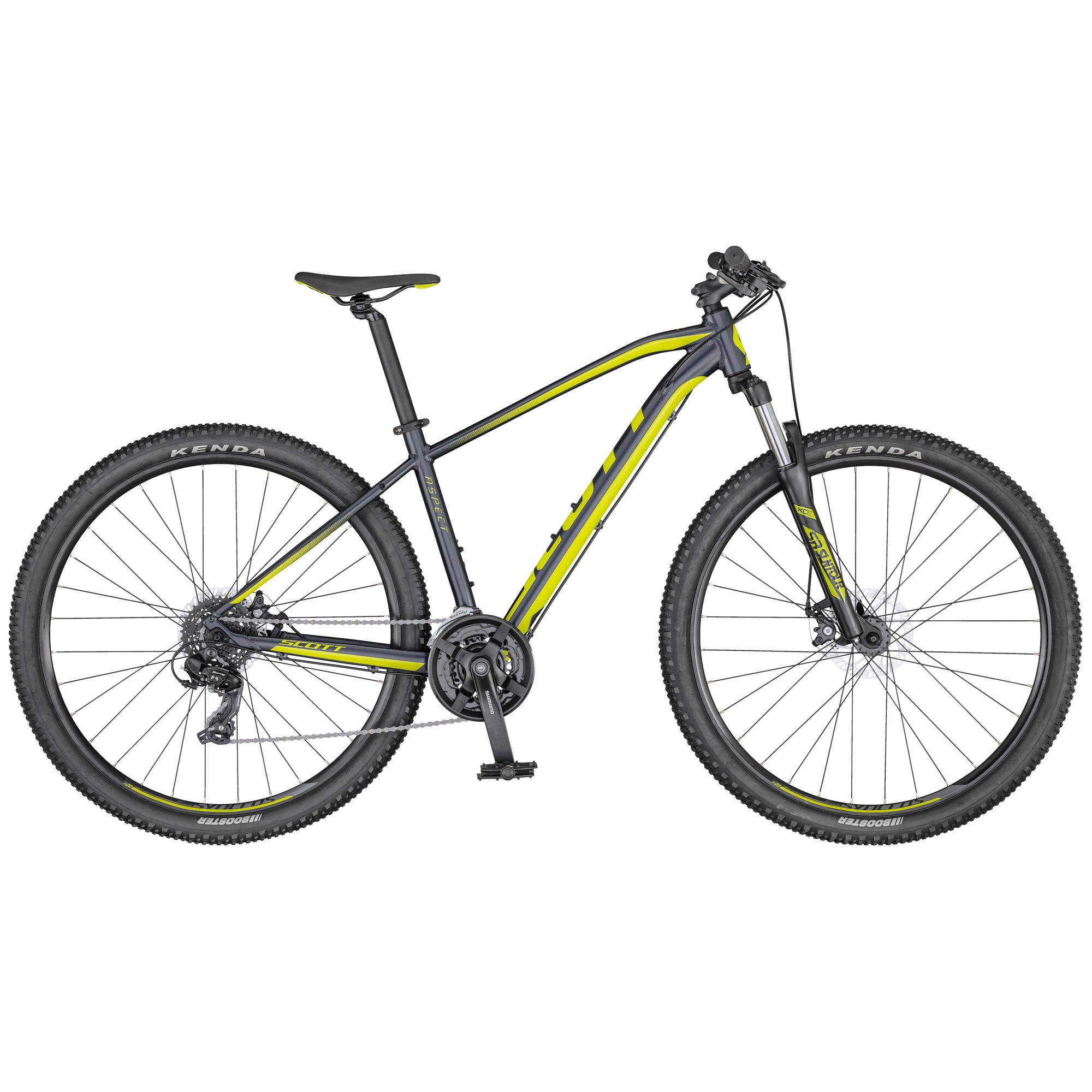 2020 Scott Aspect 970 Hardtail Mountain Bike in Grey/Yellow | MTB