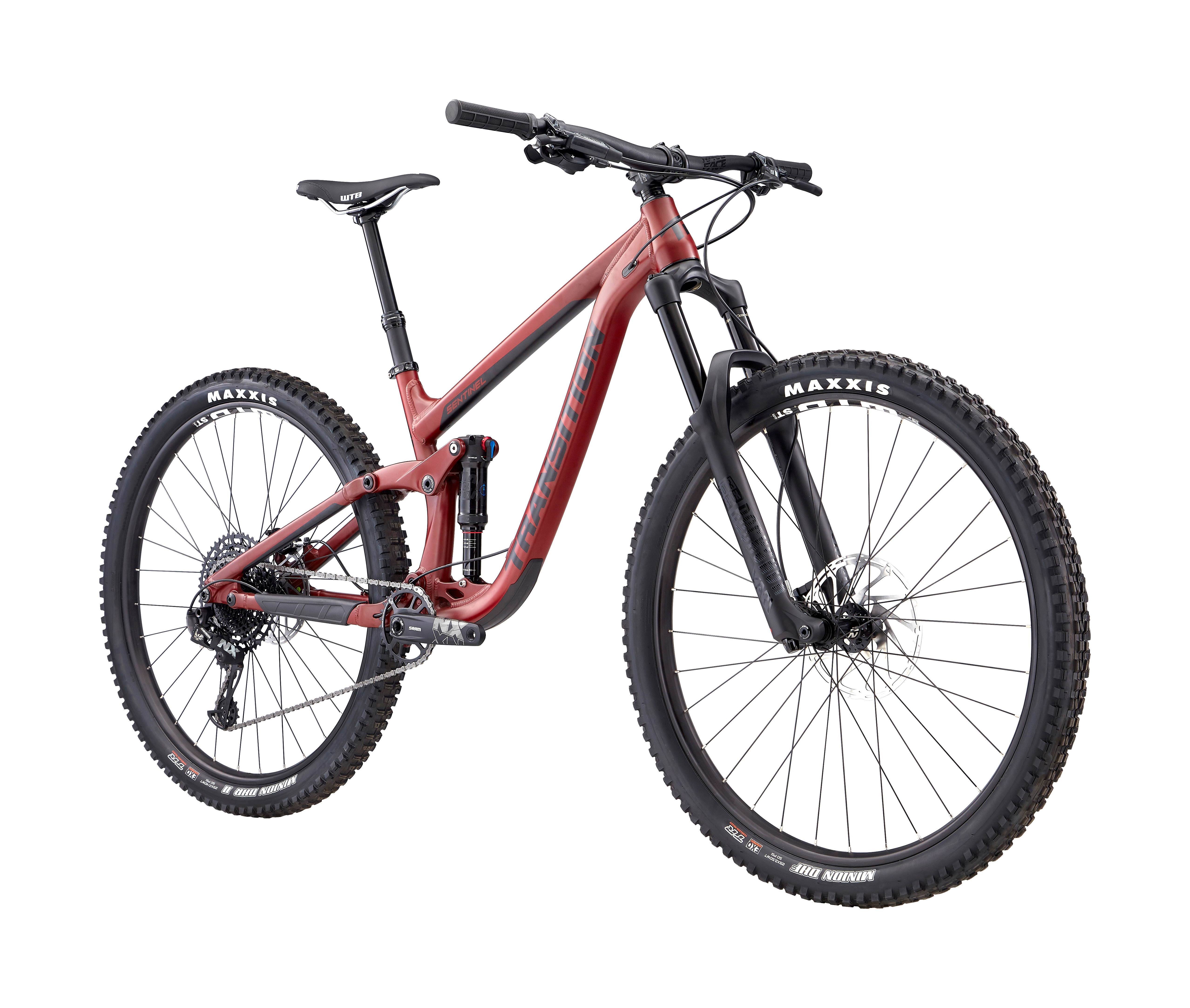 2019 Transition Sentinel NX Alloy Full Suspension Mountain Bike in Red | MTB